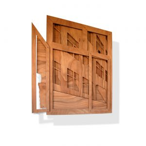 VASISTAS I, © 2008,  oiled plywood and acrylic paint, 160 x 130 x 25 cm