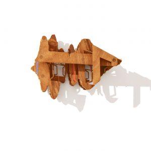 VASISTAS - WEIHEKE ISLAND.MP3, © 2009,  oiled plywood and acrylic paint, 44 x 32 x 21 cm