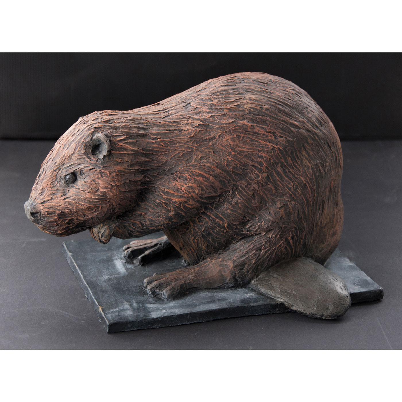 BEAVER,  © 2014, acrylic cast, molded in wax, 20 x 20 x 30 cm