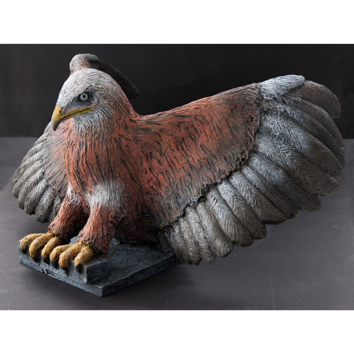 RED KITE,  © 2014, acrylic cast, molded in wax, 50 x 35 x 30 cm