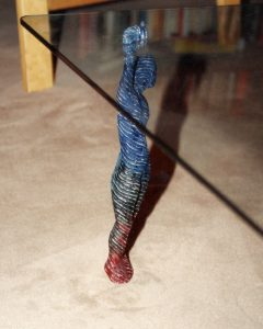 TABLE FOOT, © 1991, wood, paint, 40 cm hight