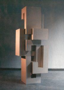 CARDBOARD MODUL II,  © 1992, cardboard, 160 x 50 x 50 cm