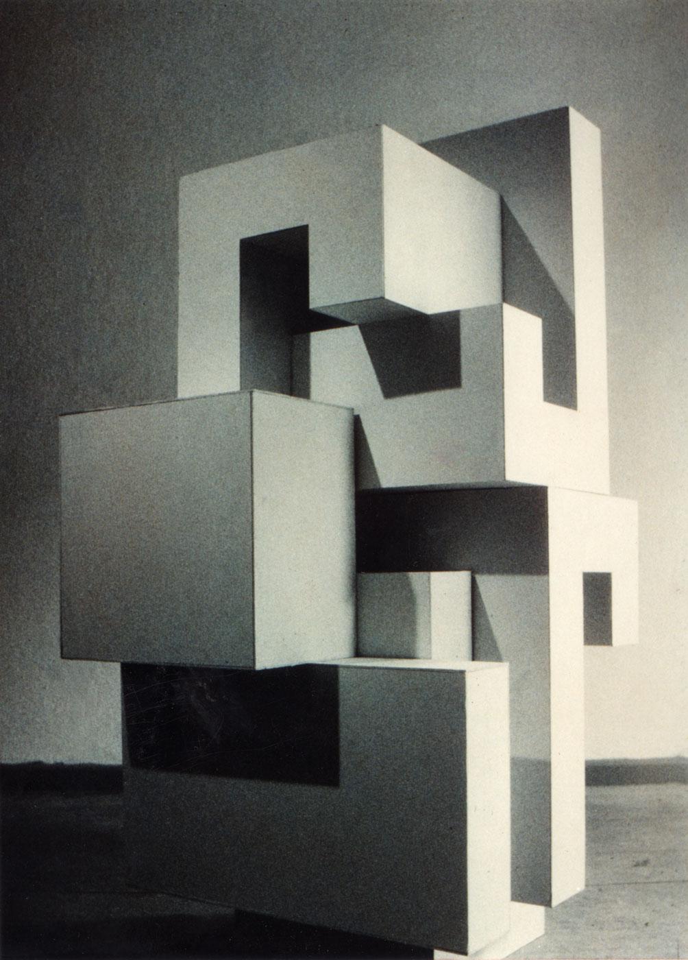 CARDBOARD MODUL I,  © 1992, cardboard, 120 x 50 x 50 cm