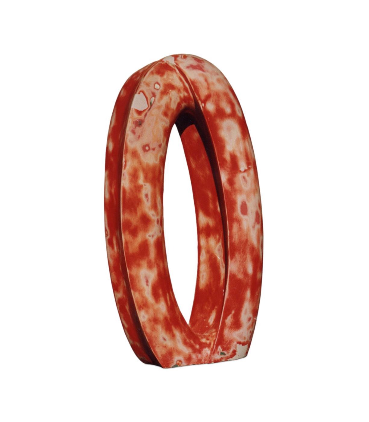 RED RING,  © 1993,  fibreglas, 20 x 50 x 100 cm