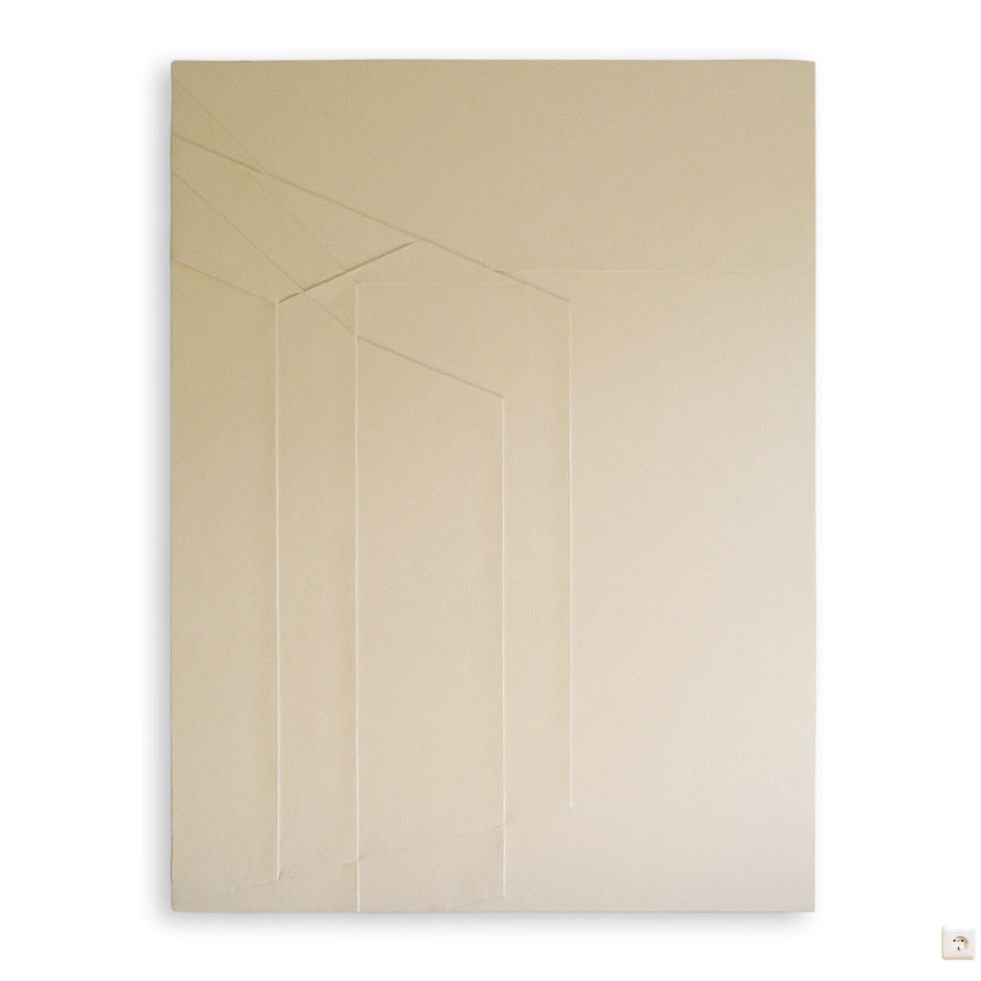 2D-3D II, © 2003, hardboard, acrylic filler, acrylic paint, 200 x 140 x 5 cm