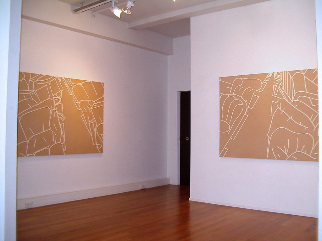 FURNITURE CITY,  © 2003, cardboard, foam tape for windows, each 140 x 100 x 4 cm