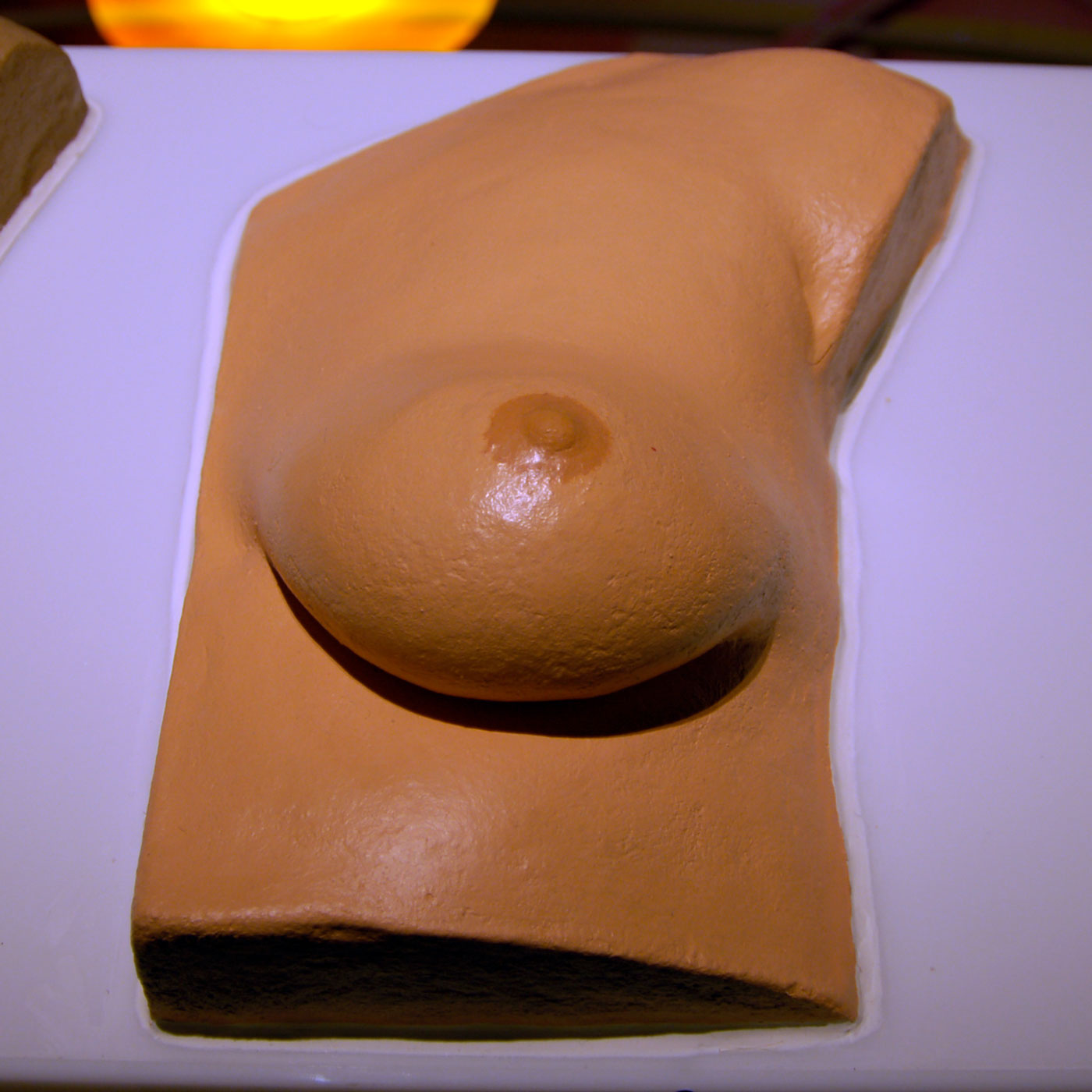 FEMALE BREAST, © 2008, polyurethane, acrylic paint, 1 : 1