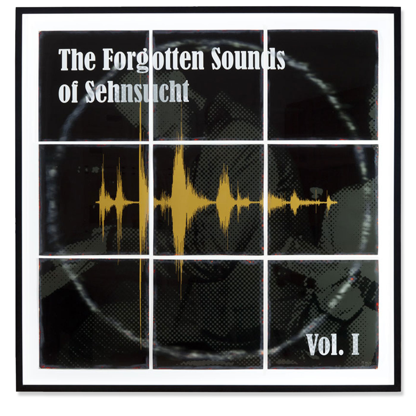 THE FORGOTTEN SOUNDS OF SEHNSUCHT VOL. I,  © 2010, metallic photo paper, cardboard, behind glass, 105 x 105 x 3,5 cm