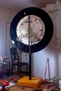 SUN - LIGHT SCULPTURE, © 2011, acrylic glass, LEDs, steel, 140 x 100 x 220 cm