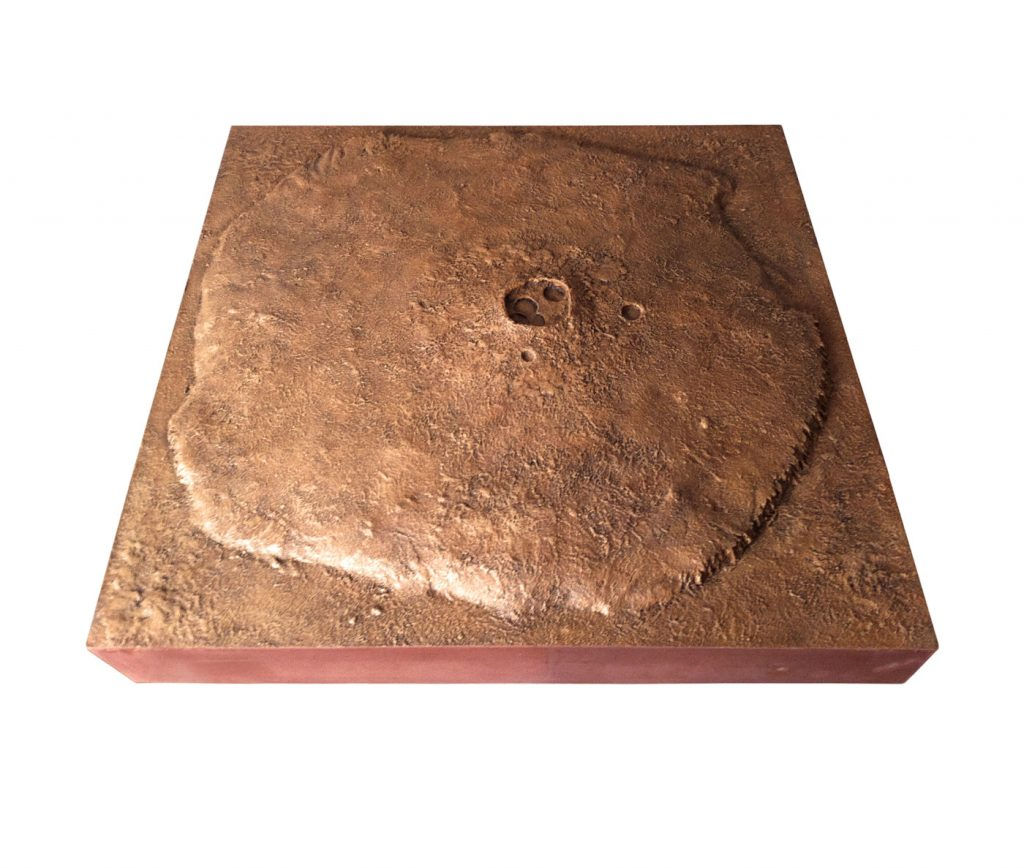 OLYMPUS MONS, © 2012, 90 x 90 cm, scale: 1:666666,666