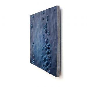 LOST-CITY III, © 2013, plastics (Acrystal), acrylic paint, fat chalk, steel construction, 80 x 90 x 9 cm
