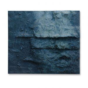 LOST-CITY II, © 2013, plastics (Acrystal), acrylic paint, fat chalk, steel construction, 80 x 90 x 19 cm