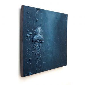 LOST-CITY I, © 2012, plastics (Acrystal), acrylic paint, fat chalk, steel construction, 80 x 90 x 9 cm