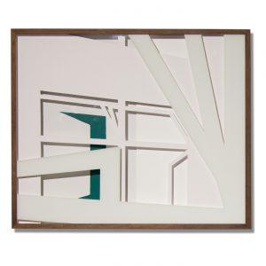 VASISTATS I, © 2015, cardboard and acrylic paint behind glass, each 64 x 53 x 4.5 cm