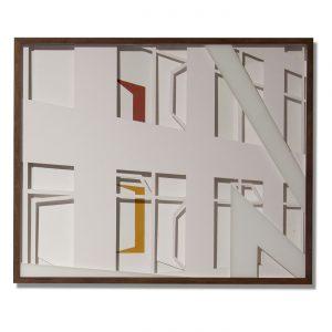 VASISTATS II, © 2015, cardboard and acrylic paint behind glass, each 64 x 53 x 4.5 cm