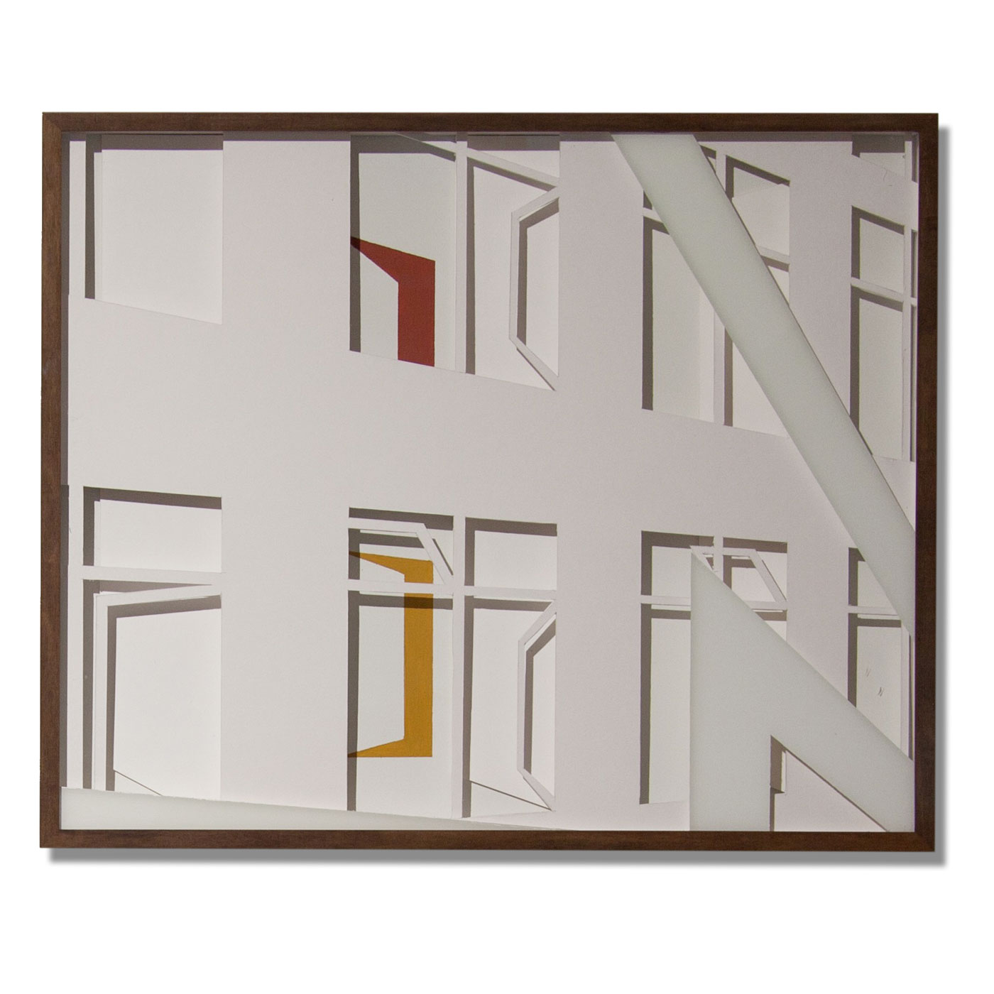 VASISTATS II, © 2015, cardboard and acrylic paint behind glass, each 64 x 53 x 4.5 cm