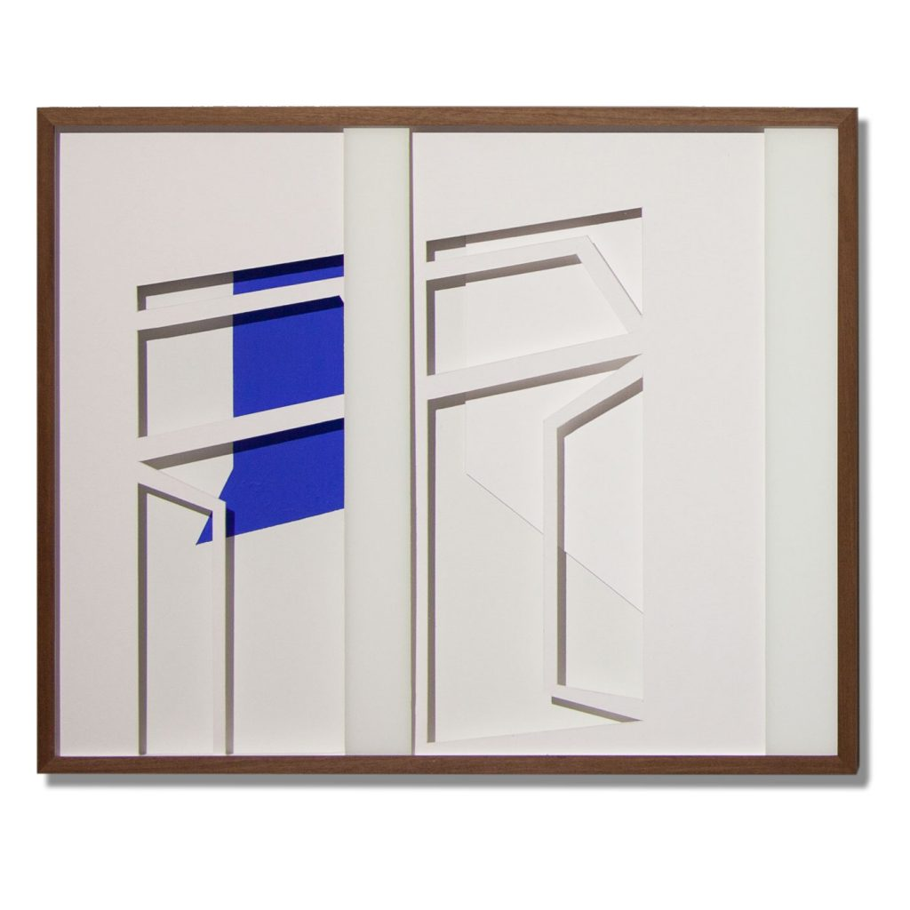 VASISTATS III, © 2015, cardboard and acrylic paint behind glass, each 64 x 53 x 4.5 cm