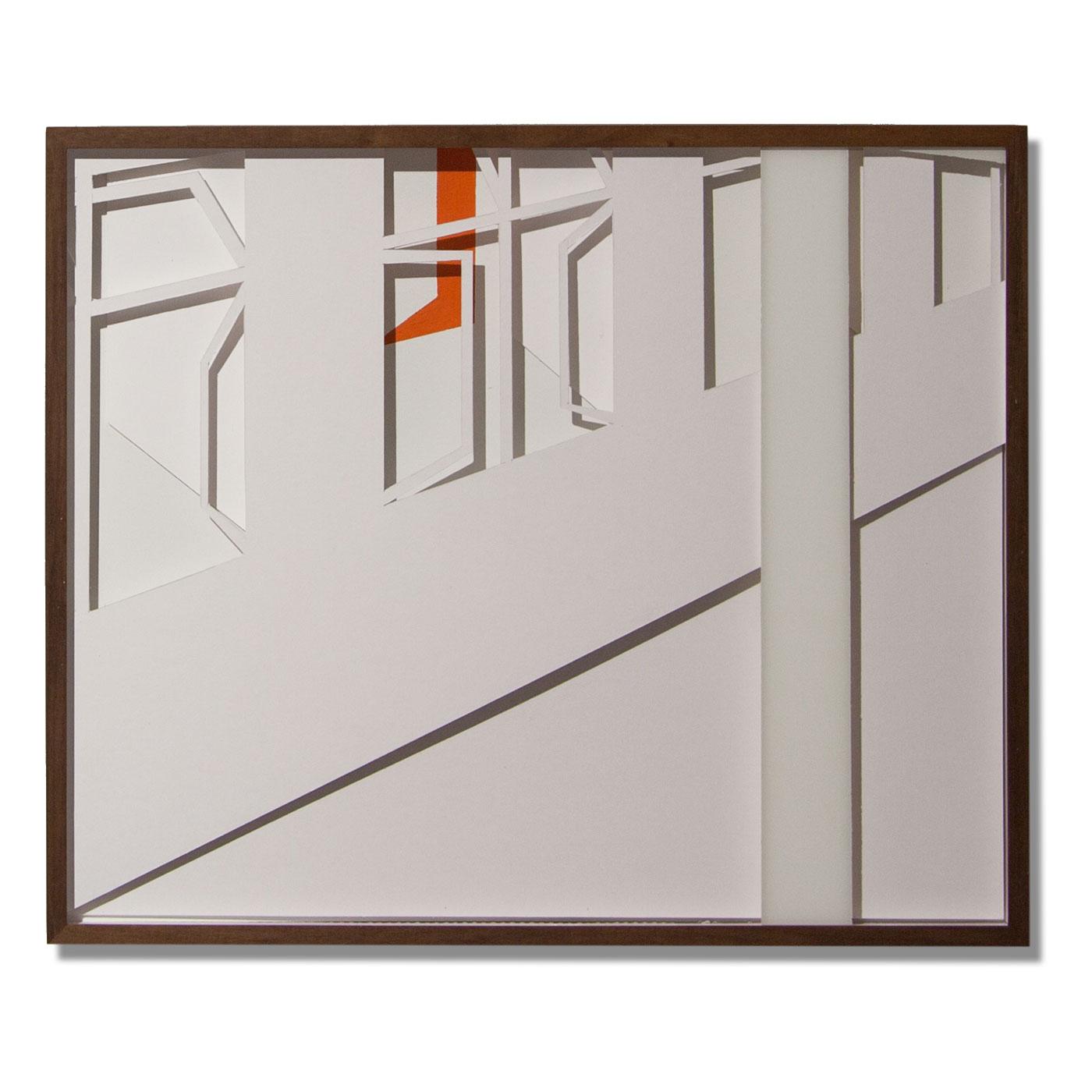 VASISTATS IV, © 2015, cardboard and acrylic paint behind glass, each 64 x 53 x 4.5 cm