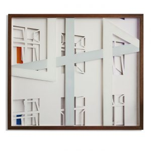 VASISTAS - RUUDI,  © 2015, cardboard, acrylic paint behind glass, 55 x 45 x 4,5 cm