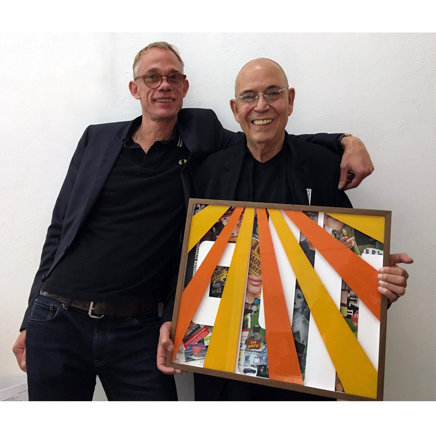 GUTSCHEIN (VOUCHER) with M.J. Wewerka, © 2016, cardboard, collage, acrylic paint behind glass, 53 x 43,5 x 4,5 cm, photo © Angelika Platen