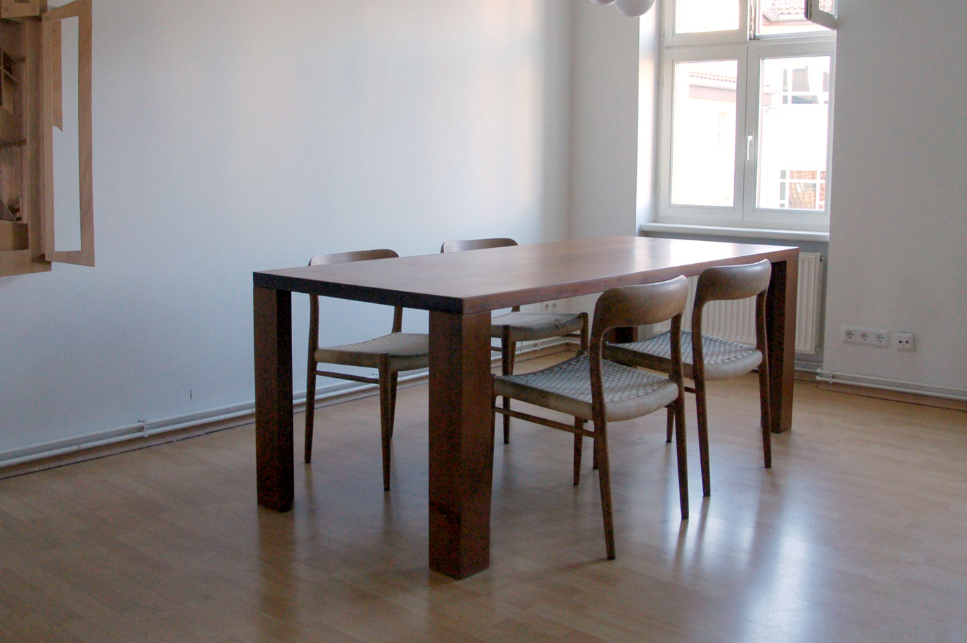 TABLE © 2007, solid South American walnut, oiled, 205 x 88 x 75 cm
